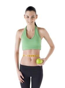 waist line and green apple