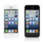 Apple iPhone 5 i sort og hvid
