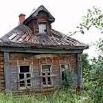 Gammelt forfaldent hus