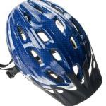 Blå cykelhjelm
