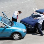 Trafikuhelt - ødelagte biler