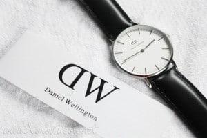 dw-sheffield-mode-sølvure-dame-sort-læder