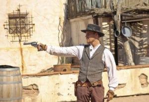 Old Tucson duel med pistoler i det vilde vesten